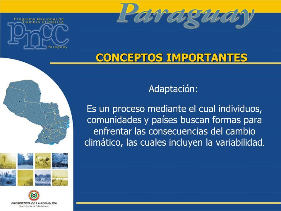 CONCEPTOS IMPORTANTES Mitigación: En este sentido el término mitigación hace referencia a una intervención de origen antrópico cuyo objetivo es la reducción de las fuentes de gases de efecto invernadero y/o la ampliación de sumideros.
