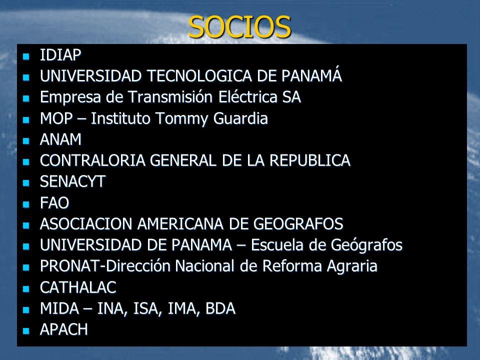 IDIAP IDIAP UNIVERSIDAD TECNOLOGICA DE PANAMÁ UNIVERSIDAD TECNOLOGICA DE PANAMÁ Empresa de Transmisión Eléctrica SA Empresa de Transmisión Eléctrica S