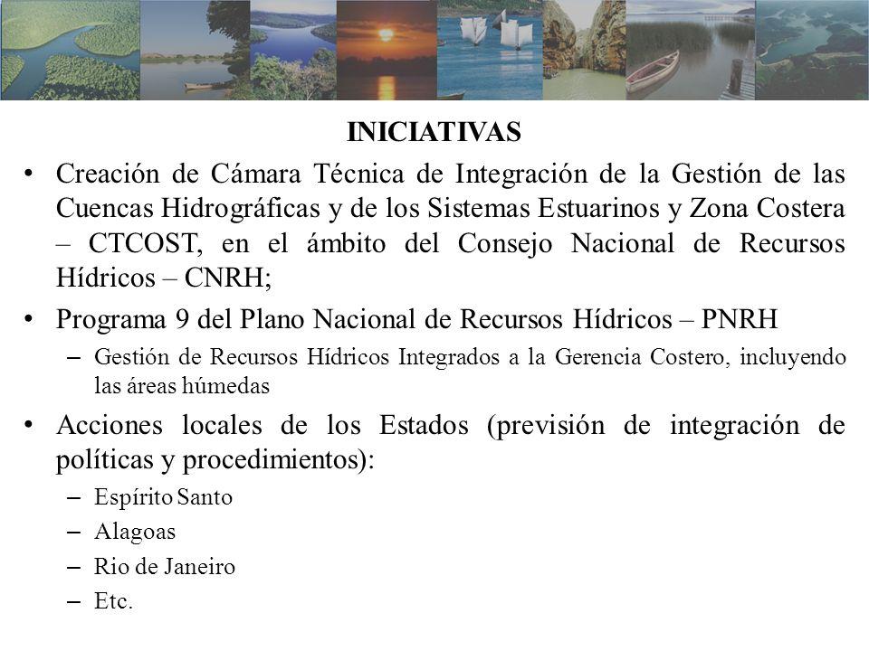 INICIATIVAS Creación de Cámara Técnica de Integración de la Gestión de las Cuencas Hidrográficas y de los Sistemas Estuarinos y Zona Costera – CTCOST,