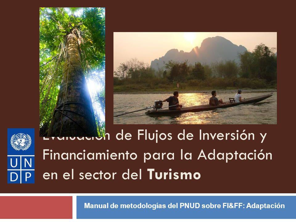 Evaluación de Flujos de Inversión y Financiamiento para la Adaptación en el sector del Turismo Manual de metodologías del PNUD sobre FI&FF: Adaptación