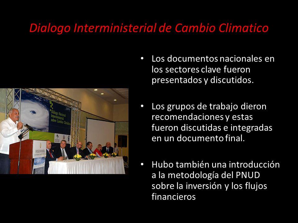 Los documentos nacionales en los sectores clave fueron presentados y discutidos.