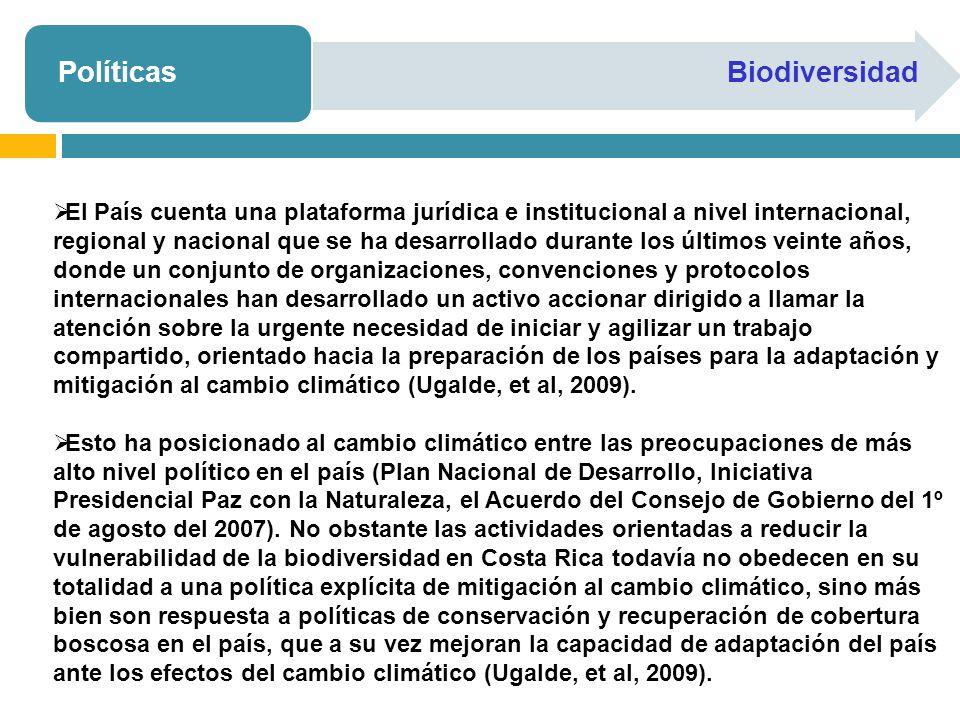 PolíticasBiodiversidad El País cuenta una plataforma jurídica e institucional a nivel internacional, regional y nacional que se ha desarrollado durant