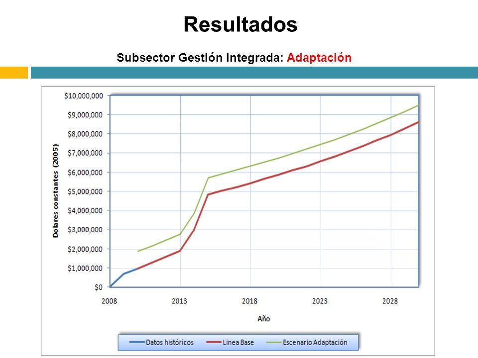 Subsector Gestión Integrada: Adaptación Resultados