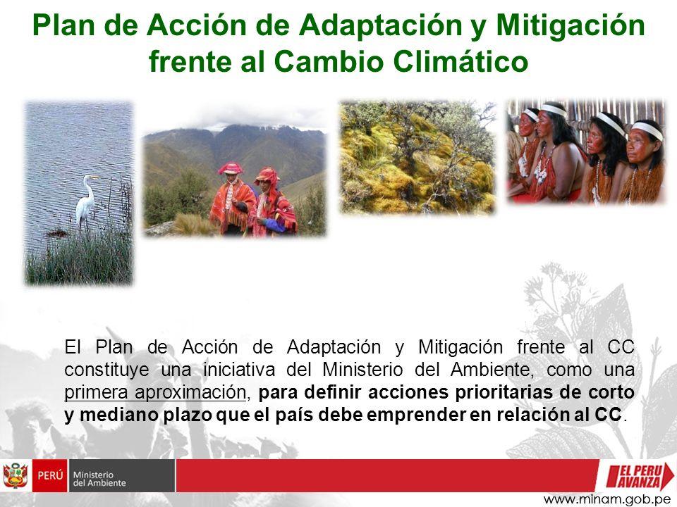 Plan de Acción de Adaptación y Mitigación frente al Cambio Climático El Plan de Acción de Adaptación y Mitigación frente al CC constituye una iniciati