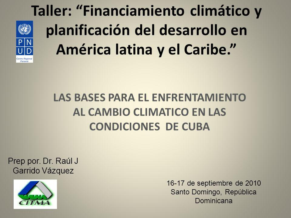 Taller: Financiamiento climático y planificación del desarrollo en América latina y el Caribe.