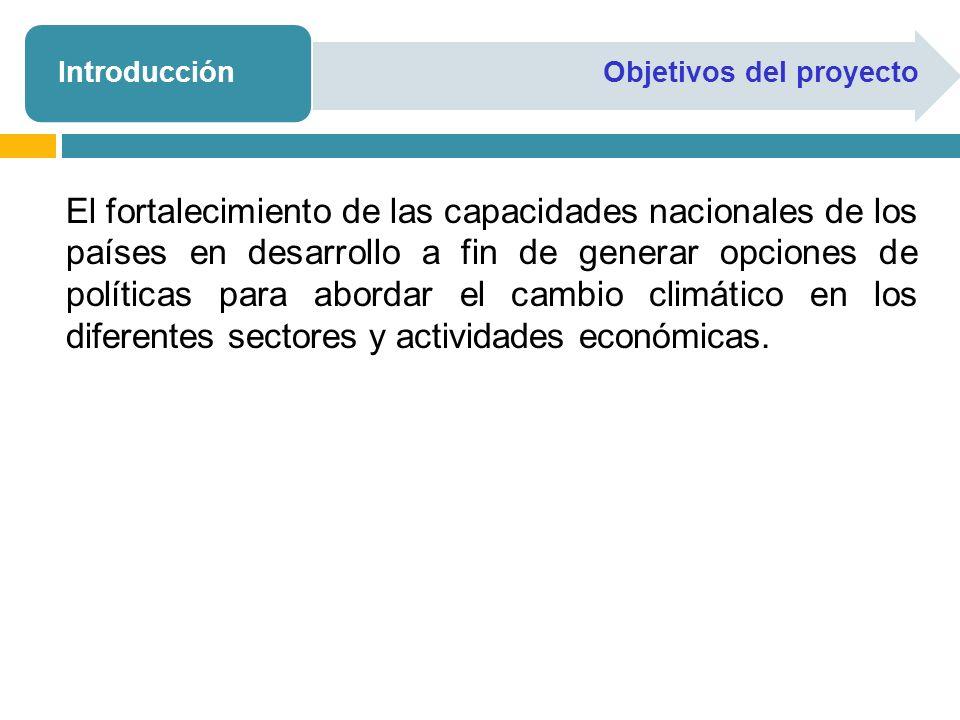 Supuestos Generales Período de Evaluación: 2005-2030 Año de base: 2005 Tasa de descuento de los costos futuros: 5% y 7% para análisis de sensibilidad Queda pendiente el analisis de sensibilidad conforme las tasas sugeridas por el PNUD