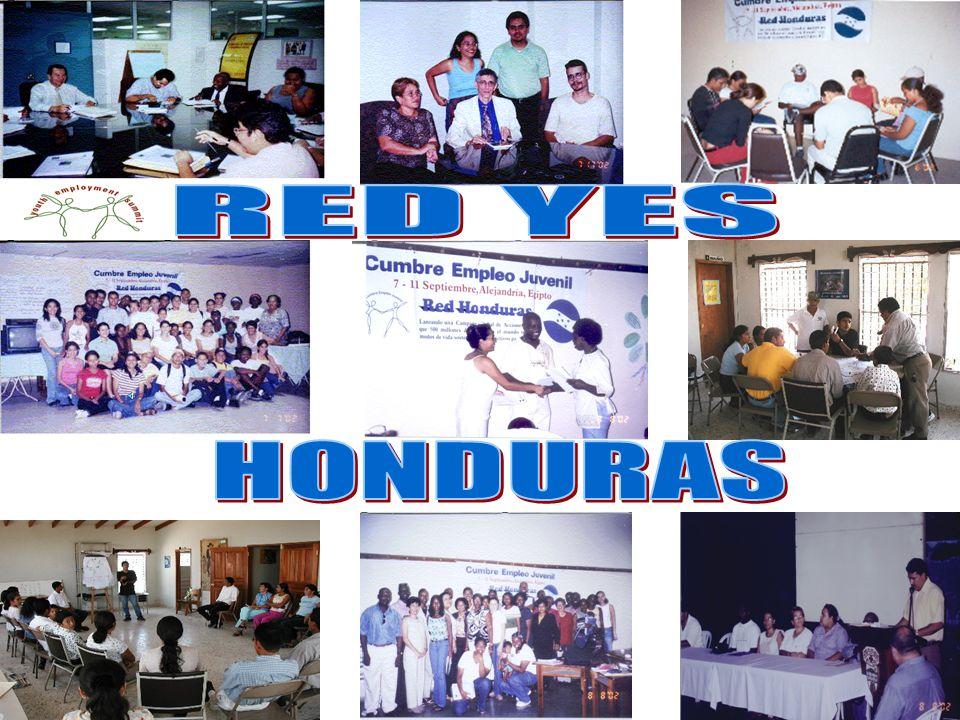 RED NACIONAL YES EN HONDURAS Con presencia en el sector norte, occidental y central del país, en 6 departamentos, interviniendo los departamentos más postergados con mayor situación de pobreza en Honduras y las 3 principales ciudades (Tegucigalpa, SPS, La Ceiba) Atlántida Fco.