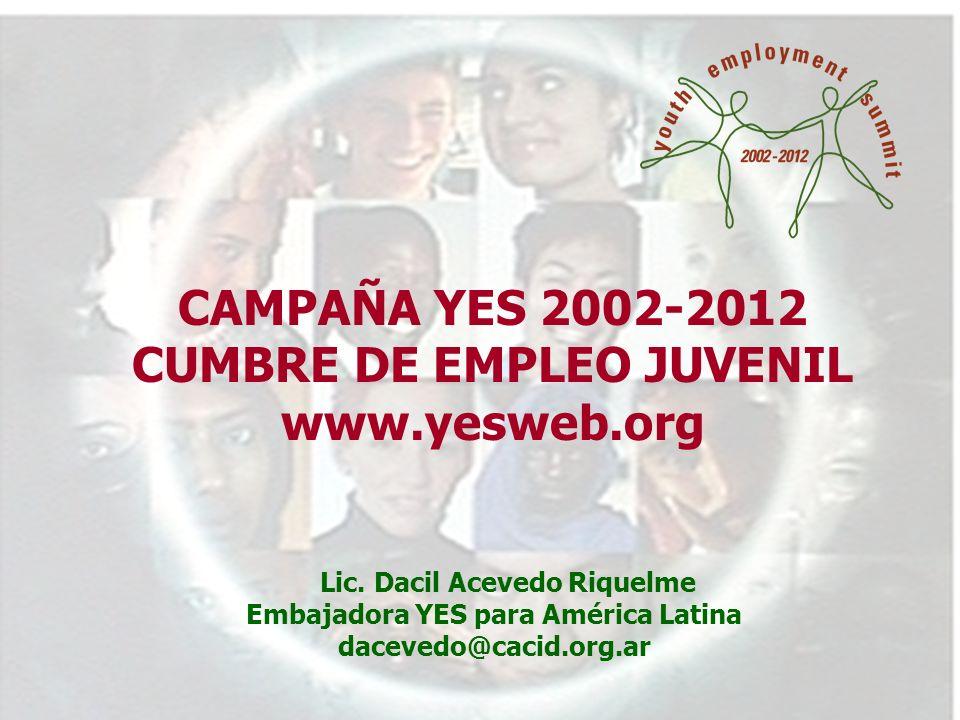 Cumbre de Empleo Juvenil Biblioteca de Alejandría, Egipto 7-11 de septiembre de 2002 Lic.