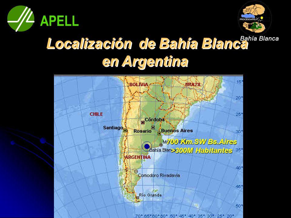700 Km.SW Bs.Aires >300M Habitantes APELL Bahía Blanca
