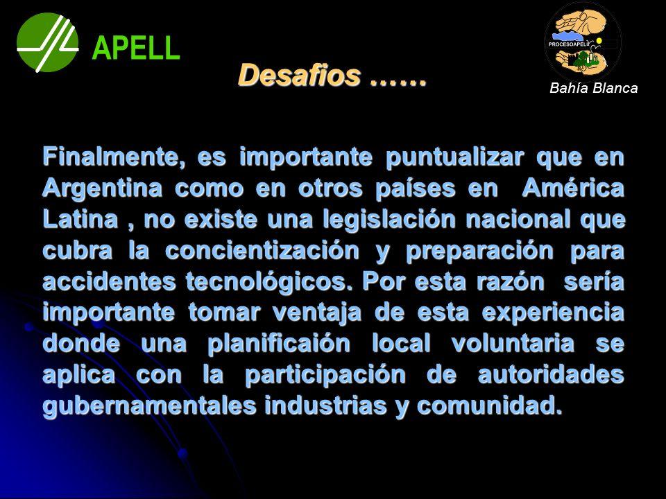 Desafios …… Finalmente, es importante puntualizar que en Argentina como en otros países en América Latina, no existe una legislación nacional que cubr