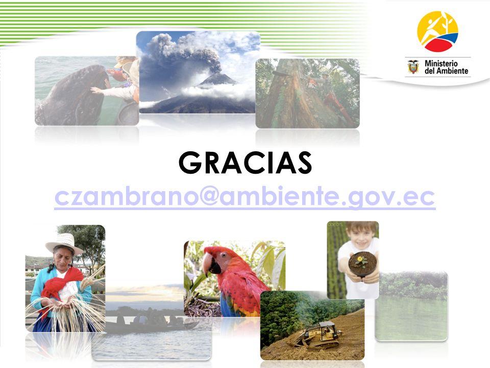 GRACIAS czambrano@ambiente.gov.ec czambrano@ambiente.gov.ec