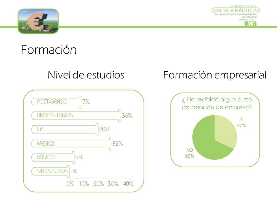 Formación Nivel de estudiosFormación empresarial