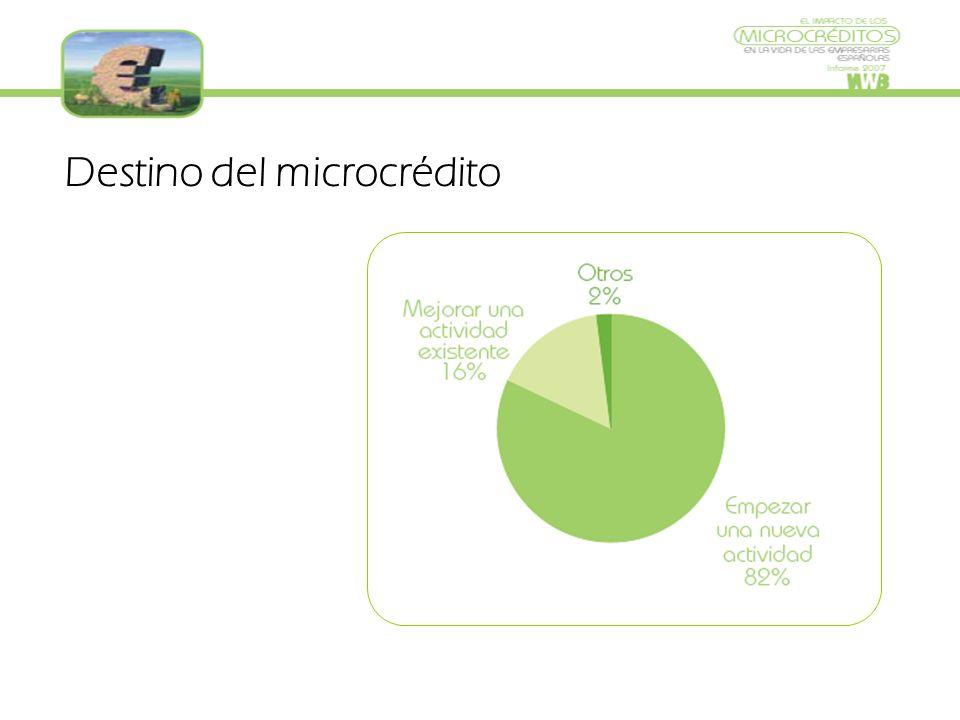 Destino del microcrédito