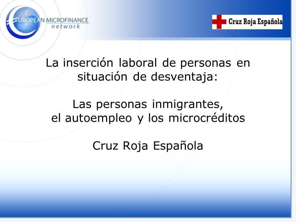 RED DE COOPERACIÓN Cruz Roja Española Fundación UN SOL MON – Caixa Catalunya Ayuntamientos Asociaciones de inmigrantes