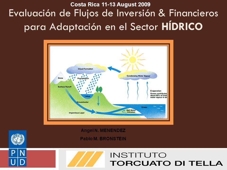 Evaluación de Flujos de Inversión & Financieros para Adaptación en el Sector HÍDRICO UNDP I&FF Methodology Guidebook: Adaptation Angel N.