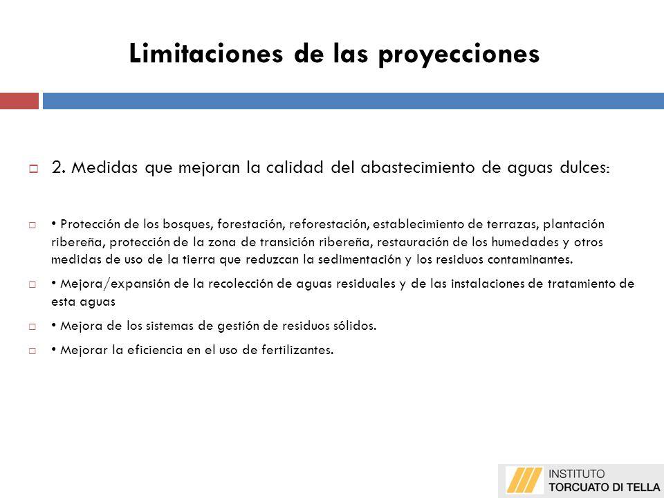 Limitaciones de las proyecciones 2.