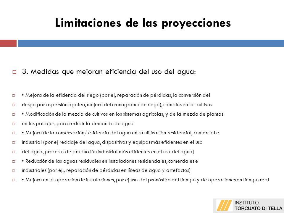 Limitaciones de las proyecciones 3.