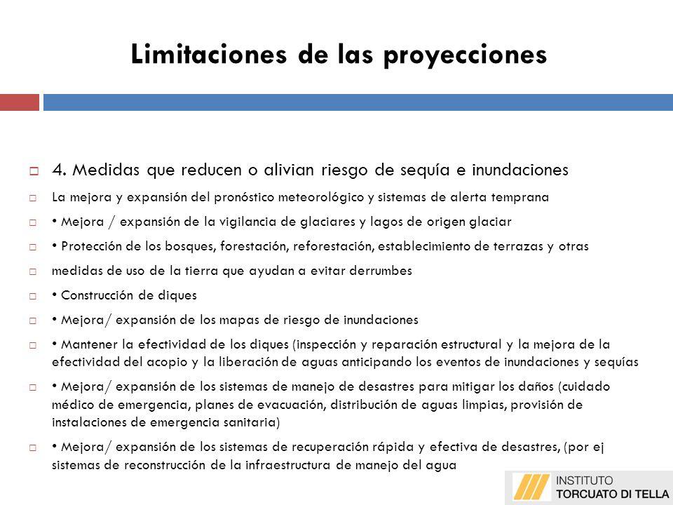 Limitaciones de las proyecciones 4.