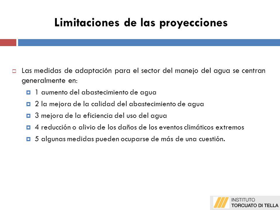 Limitaciones de las proyecciones 1.