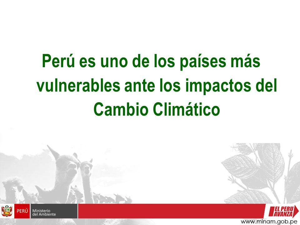 Enfoque de adaptación en el Perú Es prioritario identificar la vulnerabilidad del país ante el cambio climático para plantear alternativas de adaptación.