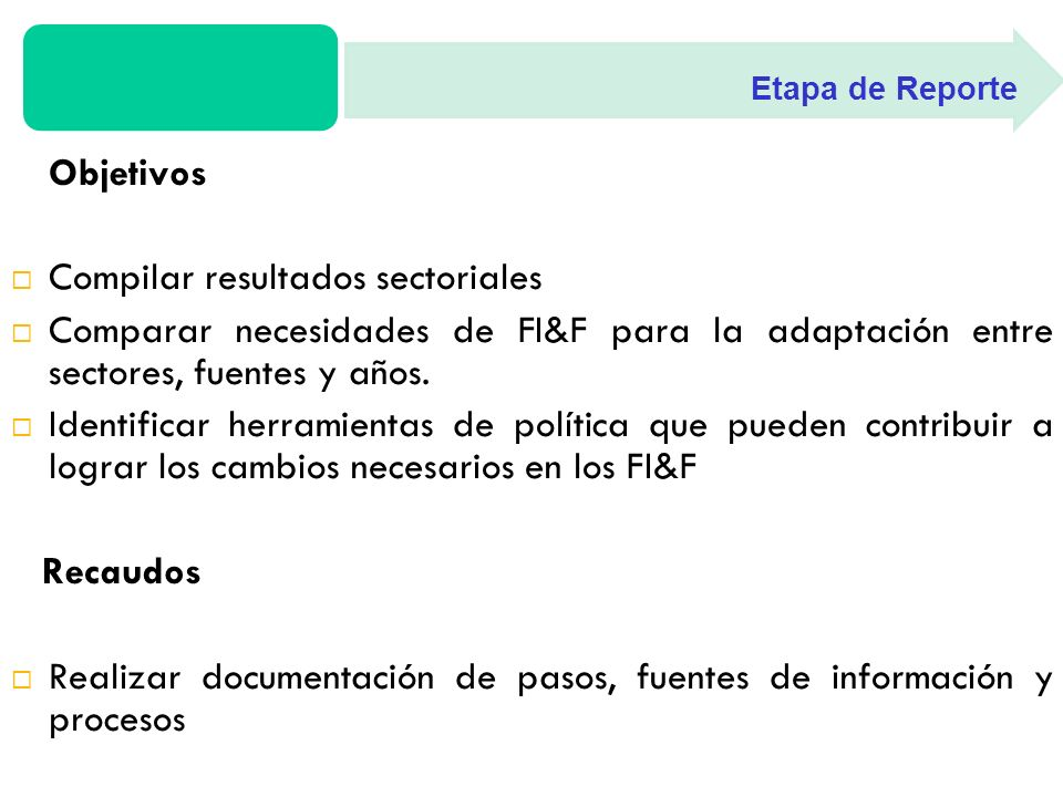 Síntesis Ejecutiva 1.Introducción 2. Evaluación de FI&F para Sector Agricultura (A) 3.
