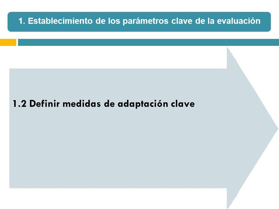 1.2 Definir medidas de adaptación clave 1. Establecimiento de los parámetros clave de la evaluación