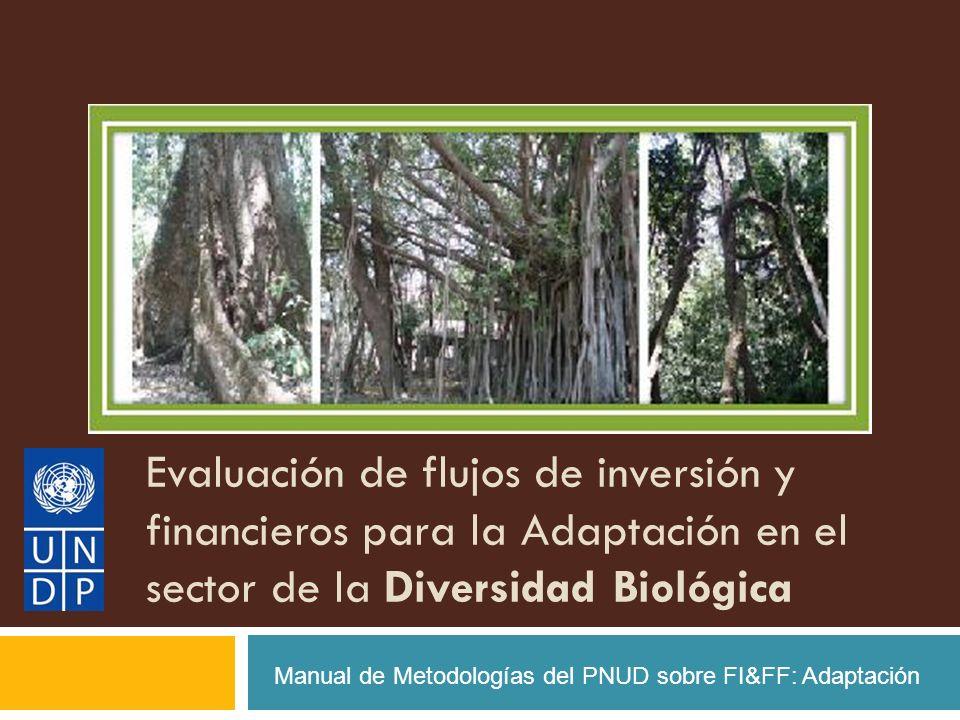 Evaluación de flujos de inversión y financieros para la Adaptación en el sector de la Diversidad Biológica Manual de Metodologías del PNUD sobre FI&FF: Adaptación