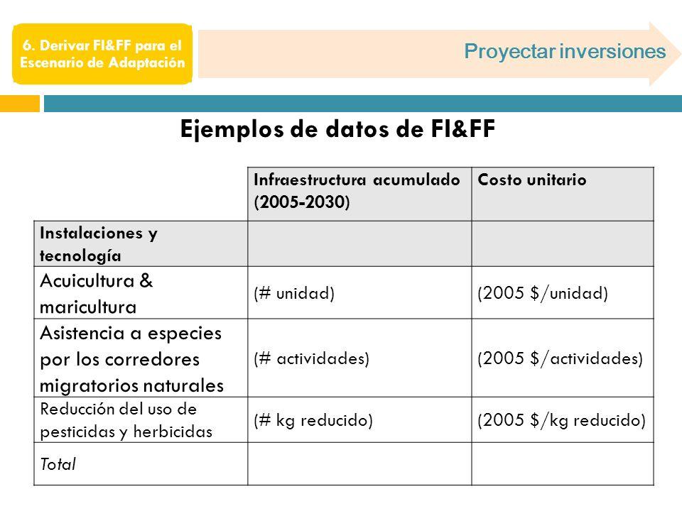 Proyectar inversiones 6.