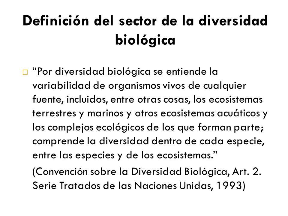 Por diversidad biológica se entiende la variabilidad de organismos vivos de cualquier fuente, incluidos, entre otras cosas, los ecosistemas terrestres y marinos y otros ecosistemas acuáticos y los complejos ecológicos de los que forman parte; comprende la diversidad dentro de cada especie, entre las especies y de los ecosistemas.