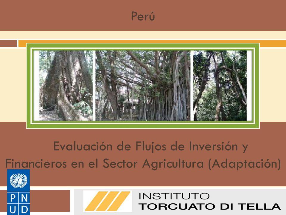 Evaluación de Flujos de Inversión y Financieros en el Sector Agricultura (Adaptación) Manual de Metodologías del PNUD sobre FI&F: Adaptación Perú