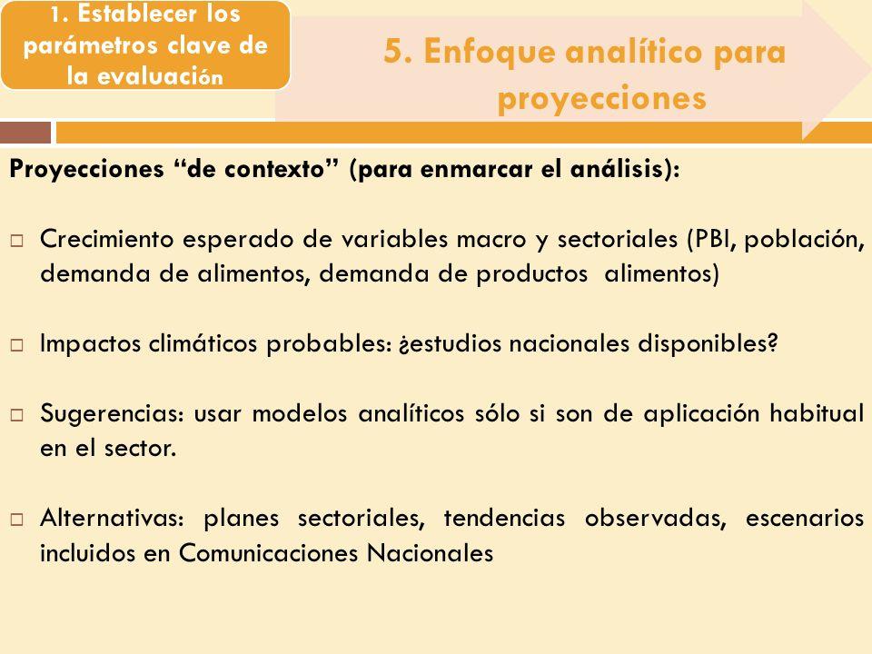 5. Enfoque analítico para proyecciones 1.
