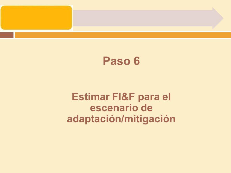Paso 6 Estimar FI&F para el escenario de adaptación/mitigación