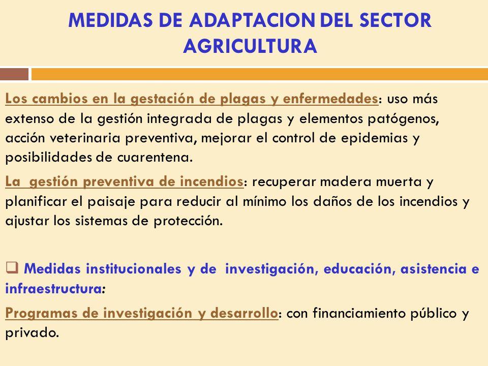 Programa de extensión y capacitación: asignar recursos públicos para informar y capacitar para la adaptación.