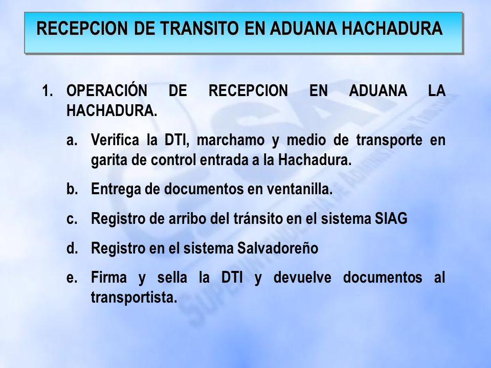 1.TRAMITE PARA ENVIO DE MERCANCIA HACIA EL SALVADOR. a.Digitación o captura de información de la DTI en el sistema SIAG b.Validación de la información