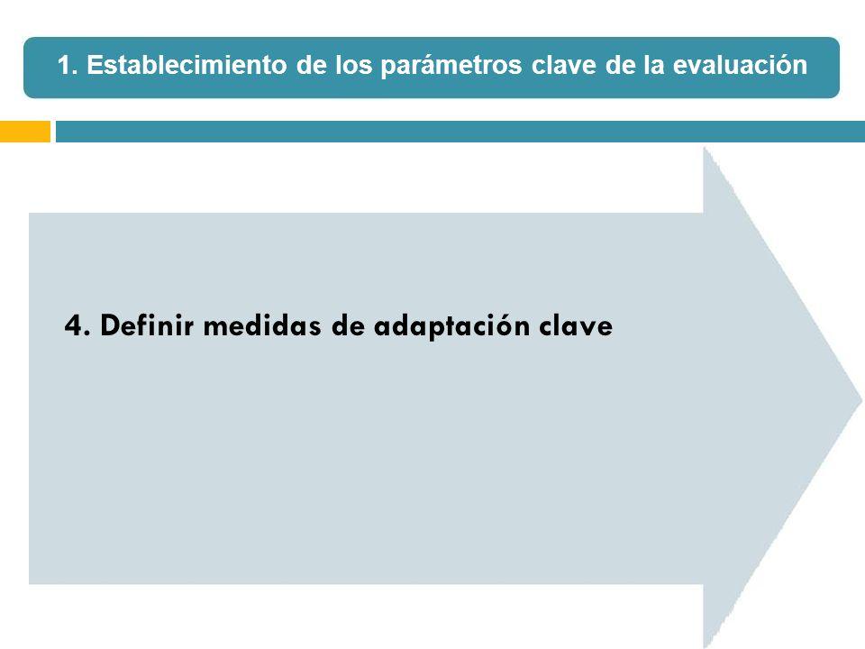 4. Definir medidas de adaptación clave 1. Establecimiento de los parámetros clave de la evaluación