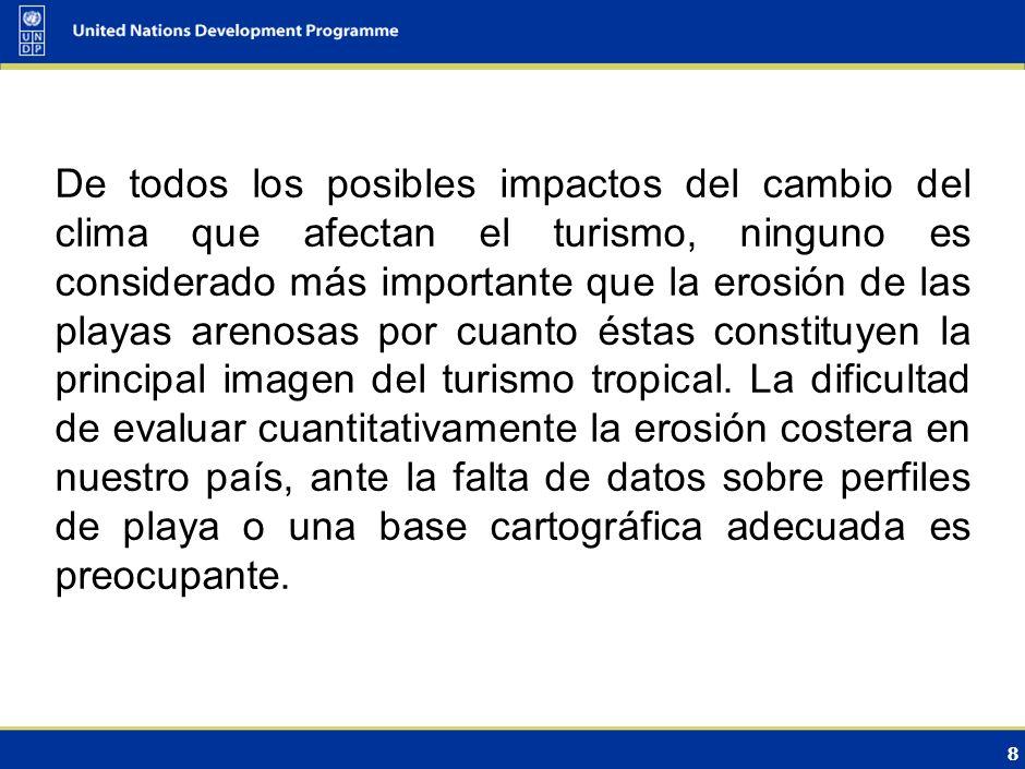 7 Los impactos socioeconómicos asociados a los problemas que enfrentará el turismo dominicano producto del calentamiento global están relacionados con