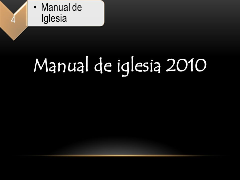 4 Manual de Iglesia