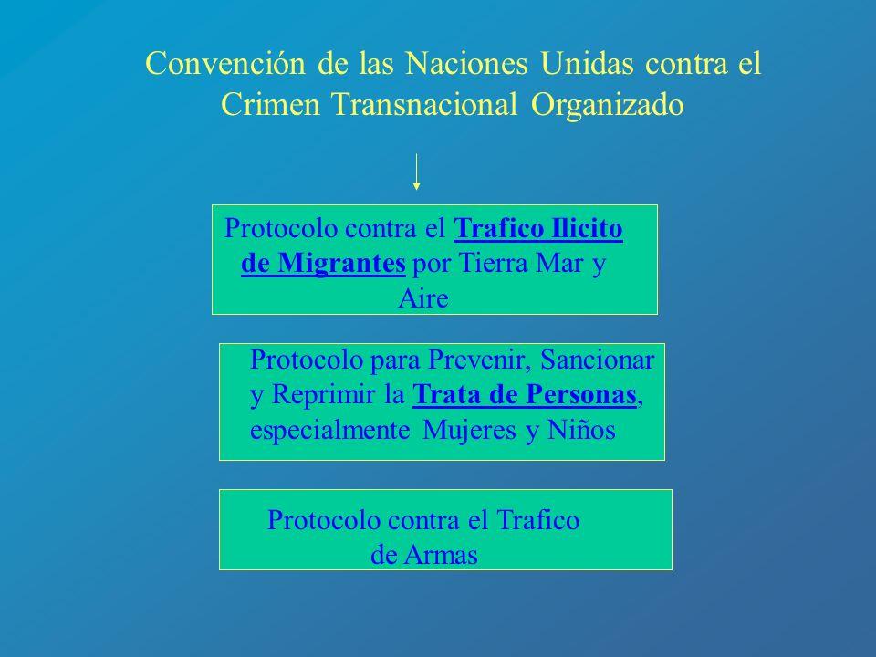 Protocolo contra el Trafico Ilicito de Migrantes por Tierra Mar y Aire Protocolo para Prevenir, Sancionar y Reprimir la Trata de Personas, especialmen