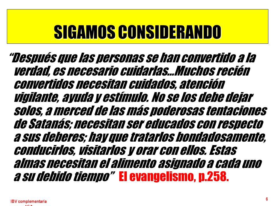 IBV complementaria Nº 2 17 LA CRISIS DE INTEGRACIÓN Síntomas 4.