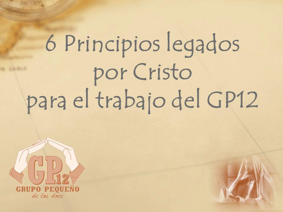 Principio Nº 6: Discipulado Cristo se determinó formar discípulos.