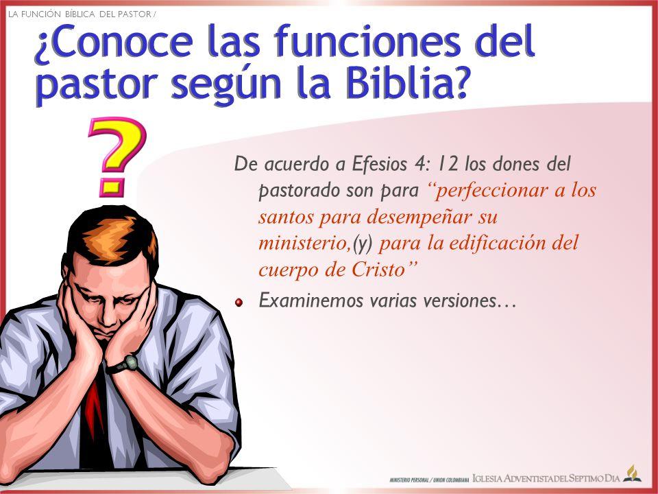 Para el recto ordenamiento de los santos en orden a las funciones del ministerio (Biblia de Jerusalén).
