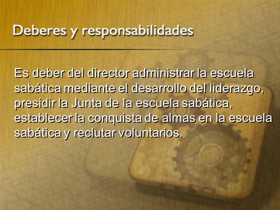 1.Solicitar, por medio del secretario del ministerio personal, los materiales autorizados por la junta de la escuela sabática.