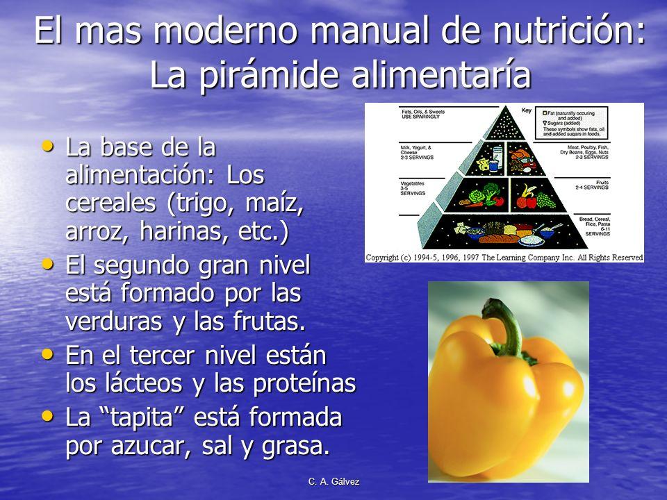 C. A. Gálvez De acuerdo al CLIMA En regiones calidas se necesitan más verduras, frutas, nueces y proteínas En regiones calidas se necesitan más verdur
