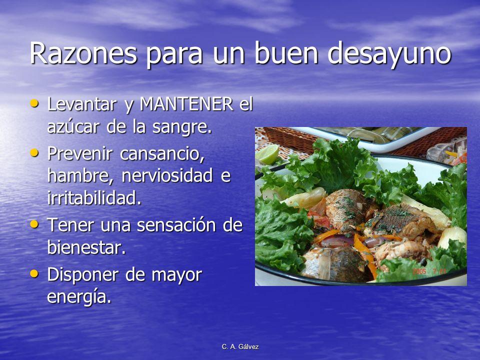C. Gálvez 1. DESAYUNO ABUNDANTE Desayuna solo, almuerza con tus amigos la cena sea para tus enemigos