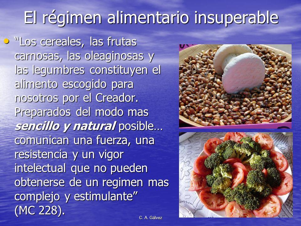 C. A. Gálvez Consumo de frutas y verduras crudas para prevenir el cáncer Consumir cinco a nueve porciones de fruta y verdura crudas por día, repartido