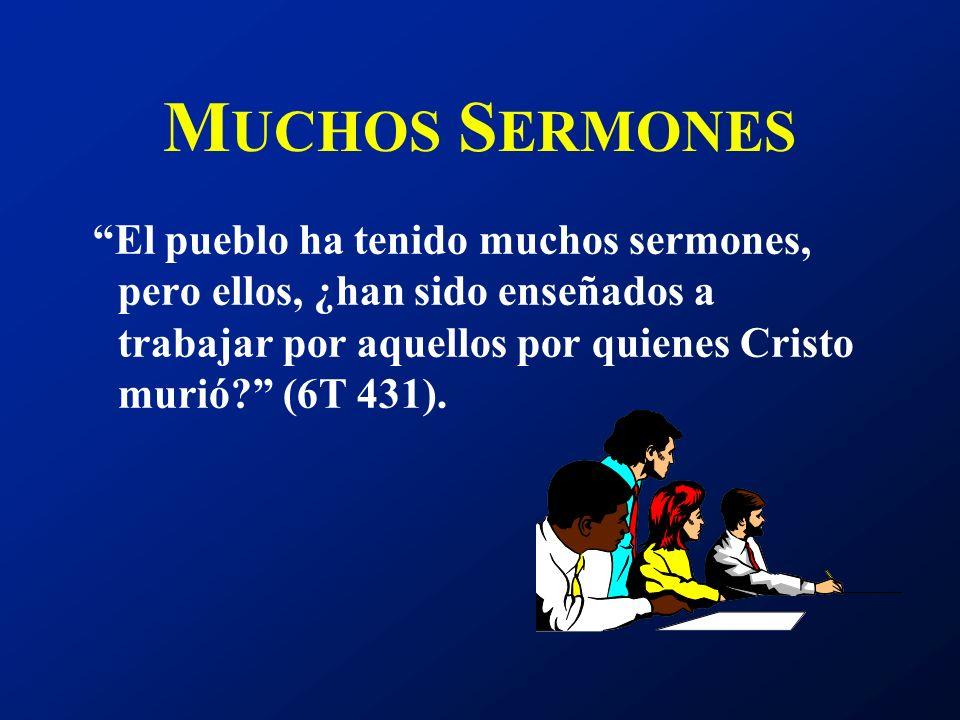 L A M EJOR A YUDA El ministro debe destinar más tiempo a enseñar que a predicar. Debe enseñar a las personas cómo transmitir a otros el conocimiento q