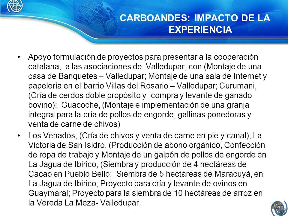 Apoyo formulación de proyectos para presentar a la cooperación catalana, a las asociaciones de: Valledupar, con (Montaje de una casa de Banquetes – Va