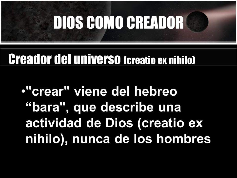 DIOS COMO CREADOR