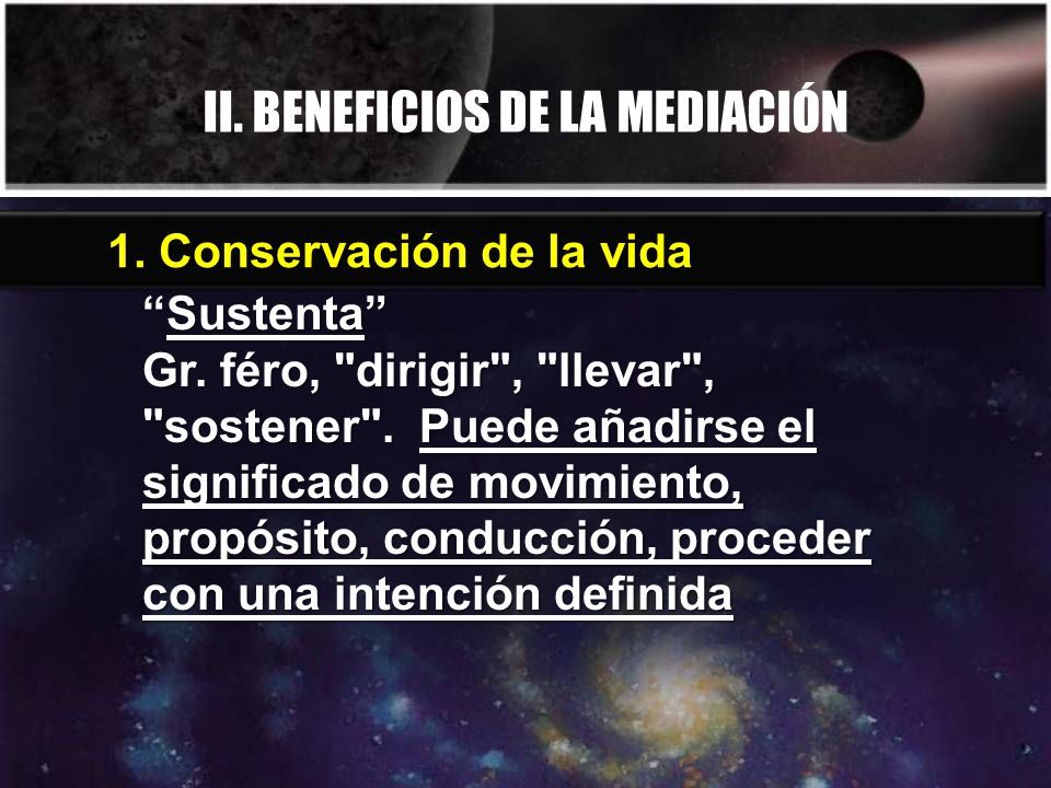 II. BENEFICIOS DE LA MEDIACIÓN SustentaSustenta Gr. féro,