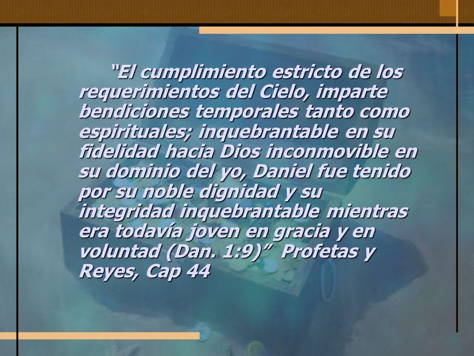Recompensa divina A estos cuatro muchachos Dios dio conocimiento e inteligencia en todas las letras y ciencias; y Daniel tuvo entendimiento en toda visión y sueños...